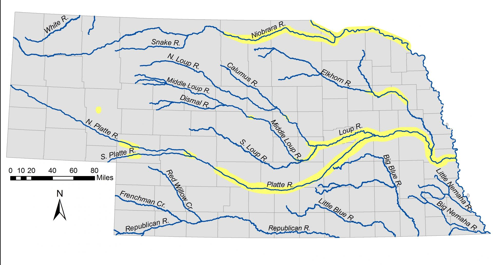 Nebraska Rivers Map Swimnovacom - Nebraska rivers map