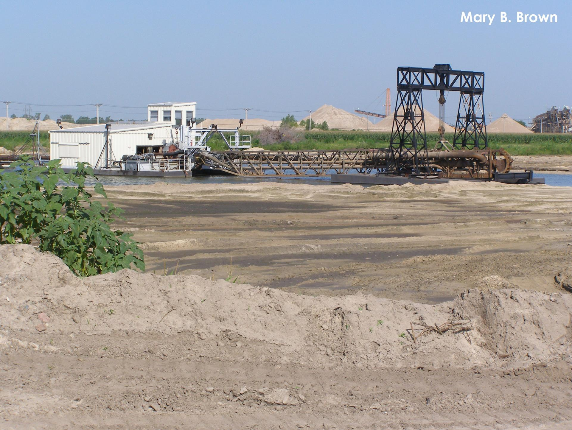 A dredge at a sand and gravel mine