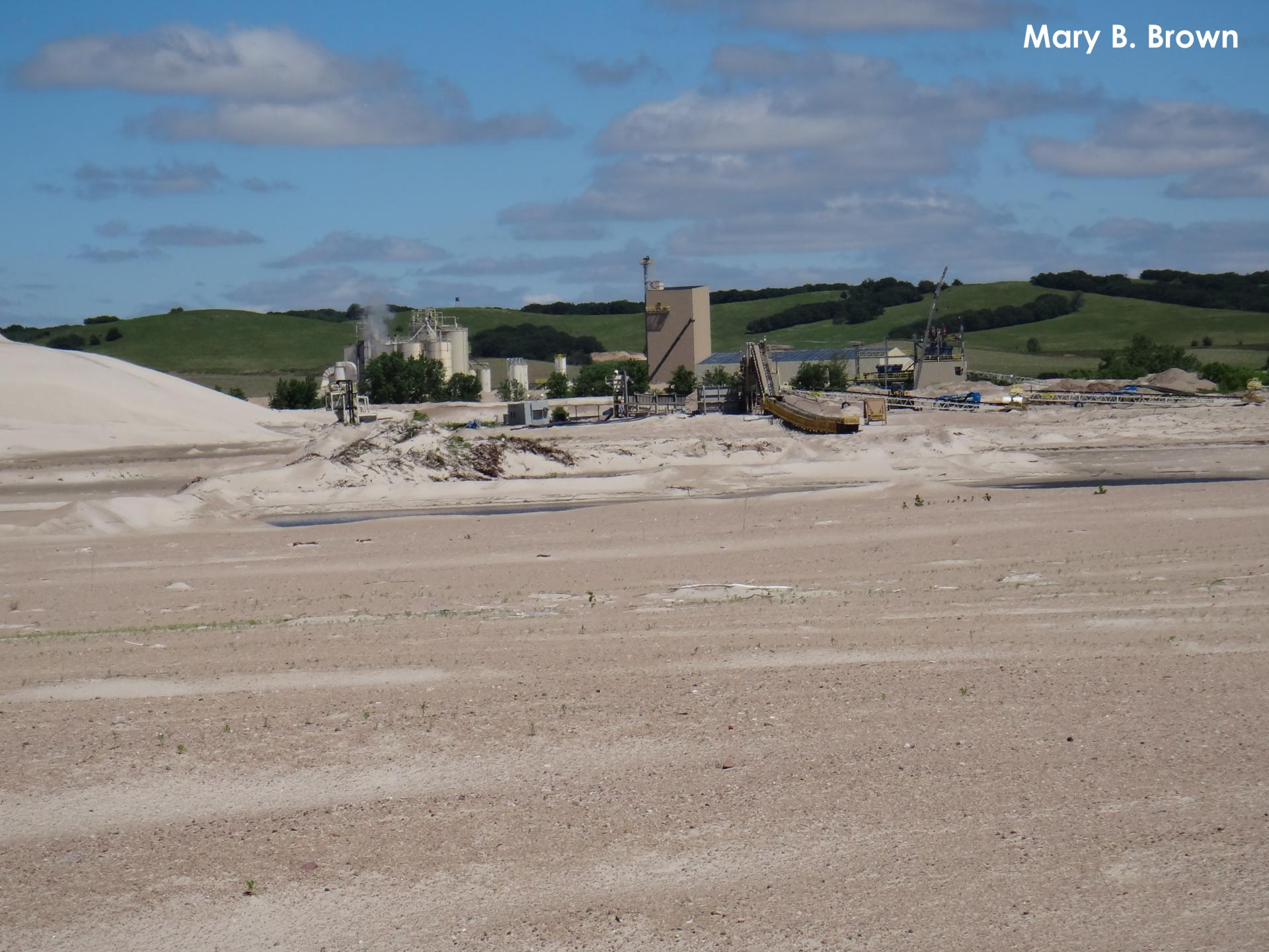 Sand and gravel mining operation